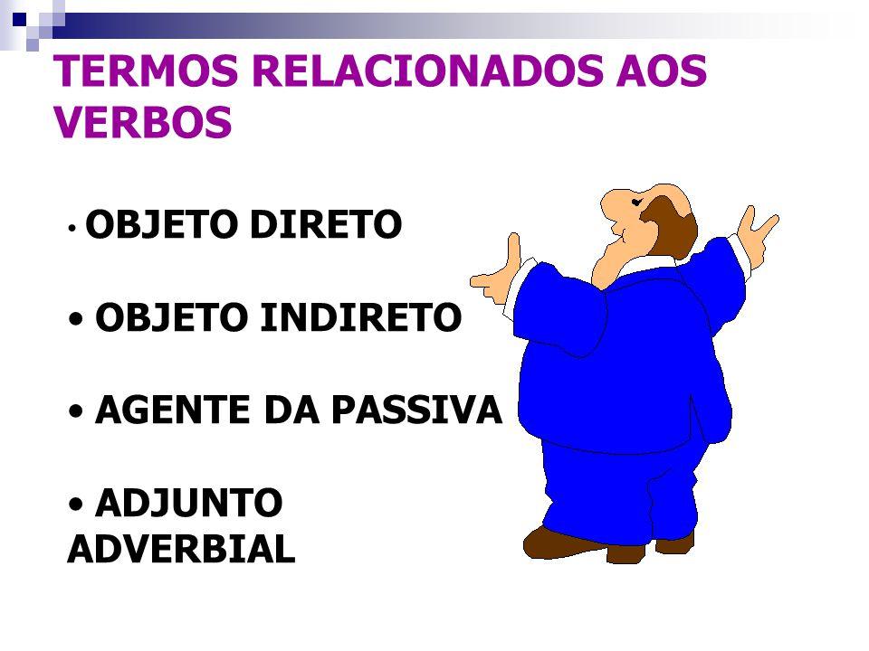 TERMOS RELACIONADOS AOS VERBOS
