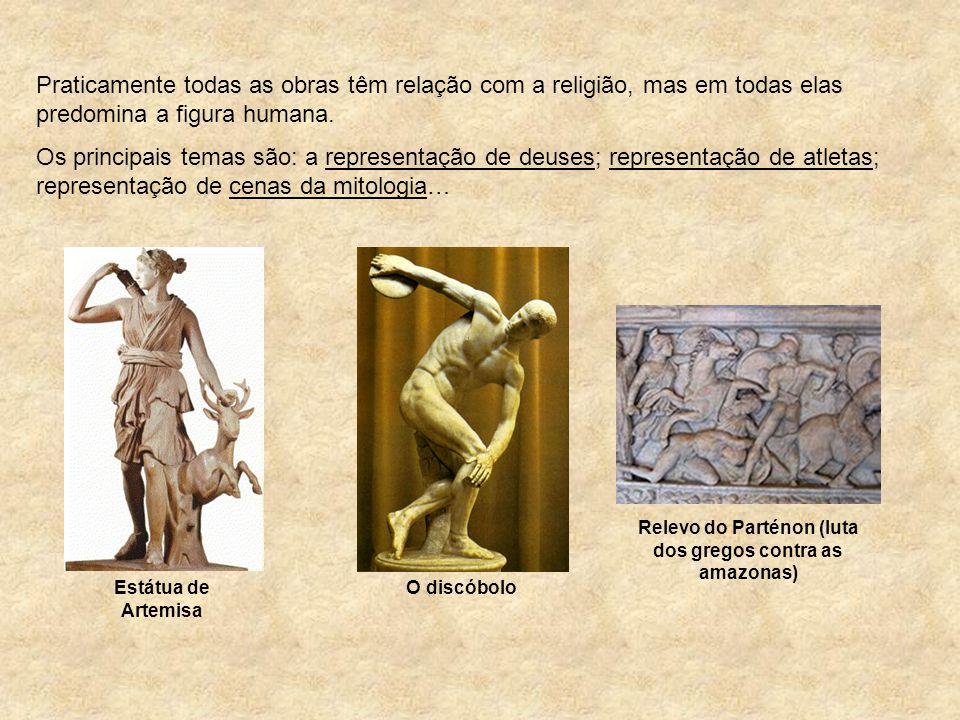 Relevo do Parténon (luta dos gregos contra as amazonas)