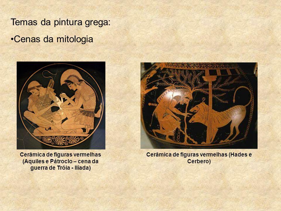 Cerâmica de figuras vermelhas (Hades e Cerbero)