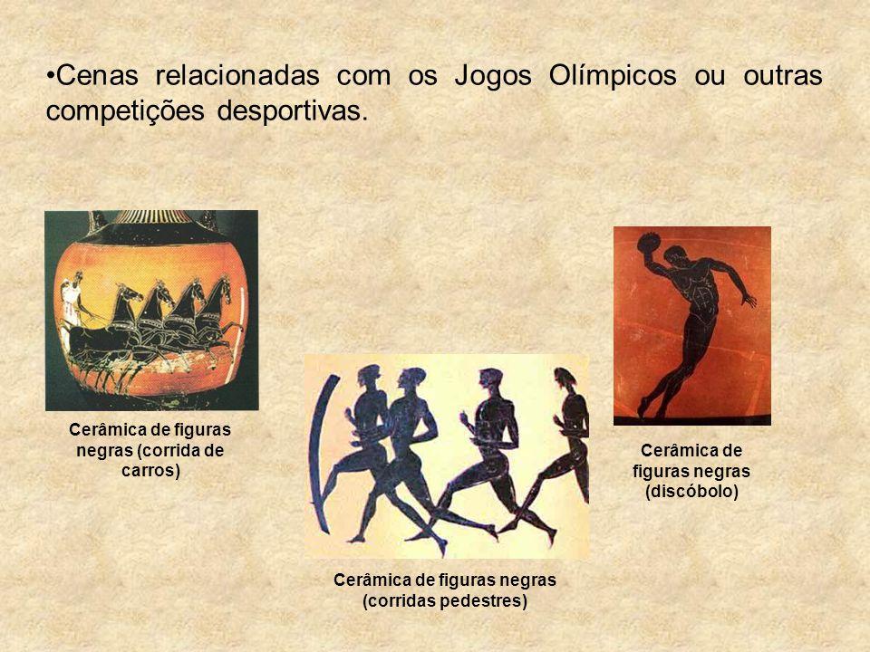 Cenas relacionadas com os Jogos Olímpicos ou outras competições desportivas.