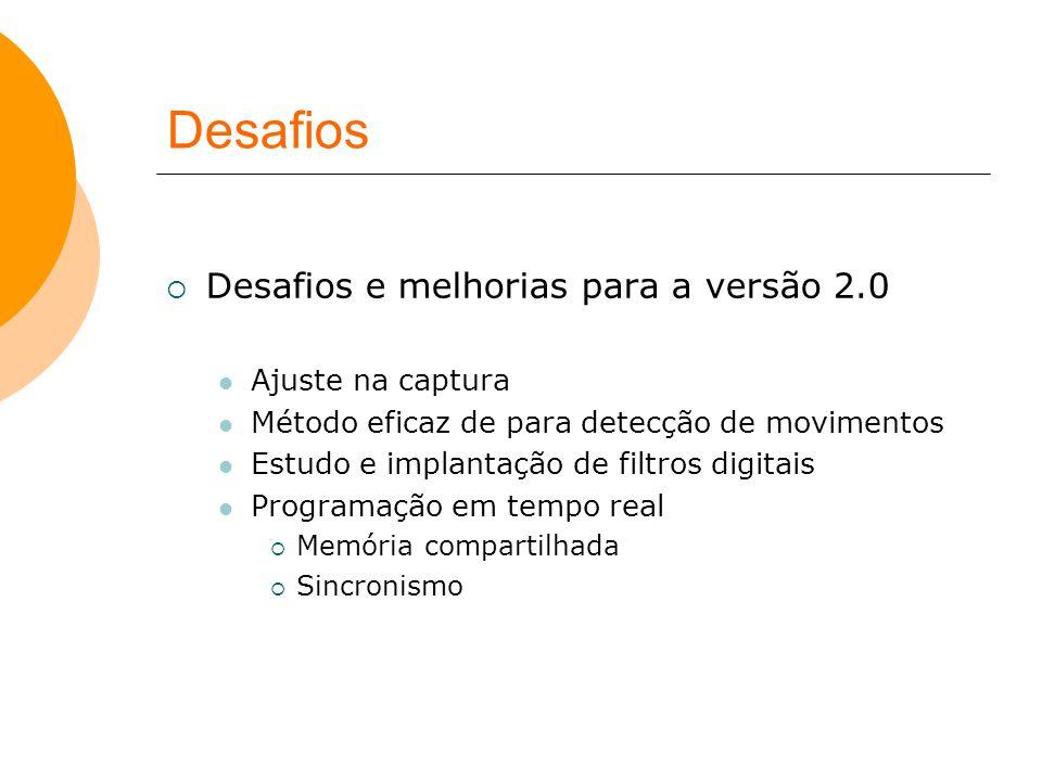 Desafios Desafios e melhorias para a versão 2.0 Ajuste na captura