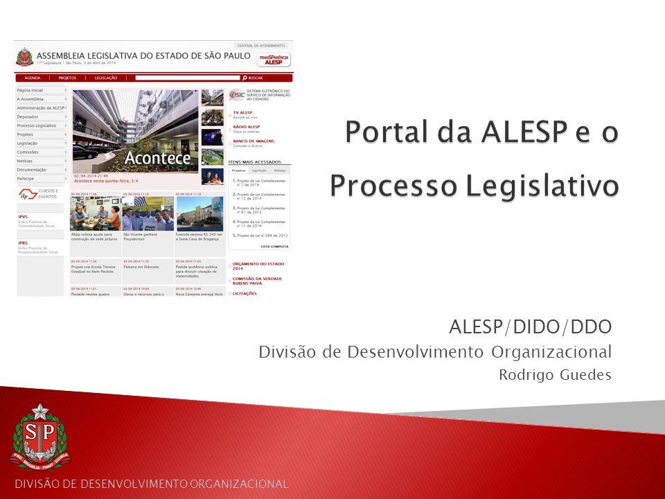 Portal da ALESP e o Processo Legislativo