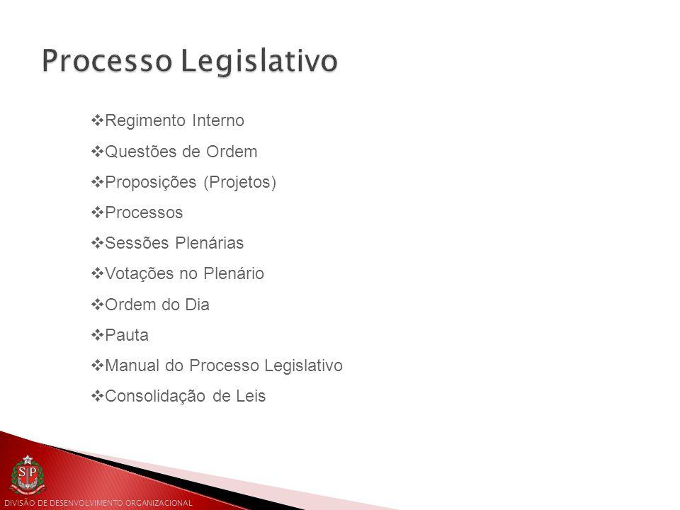 Processo Legislativo Regimento Interno Questões de Ordem