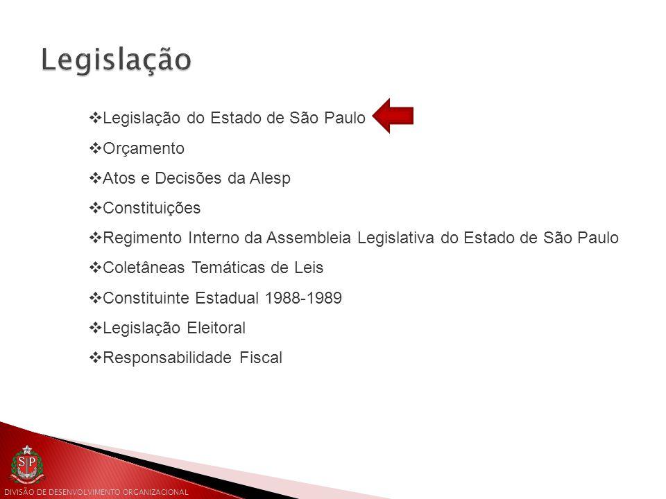 Legislação Legislação do Estado de São Paulo Orçamento