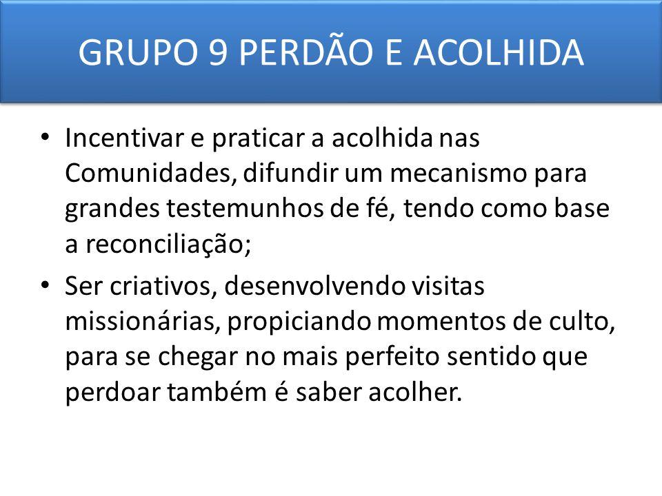 GRUPO 9 PERDÃO E ACOLHIDA