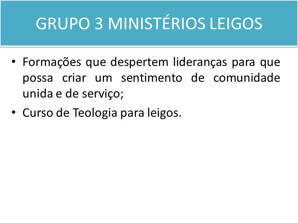 GRUPO 3 MINISTÉRIOS LEIGOS