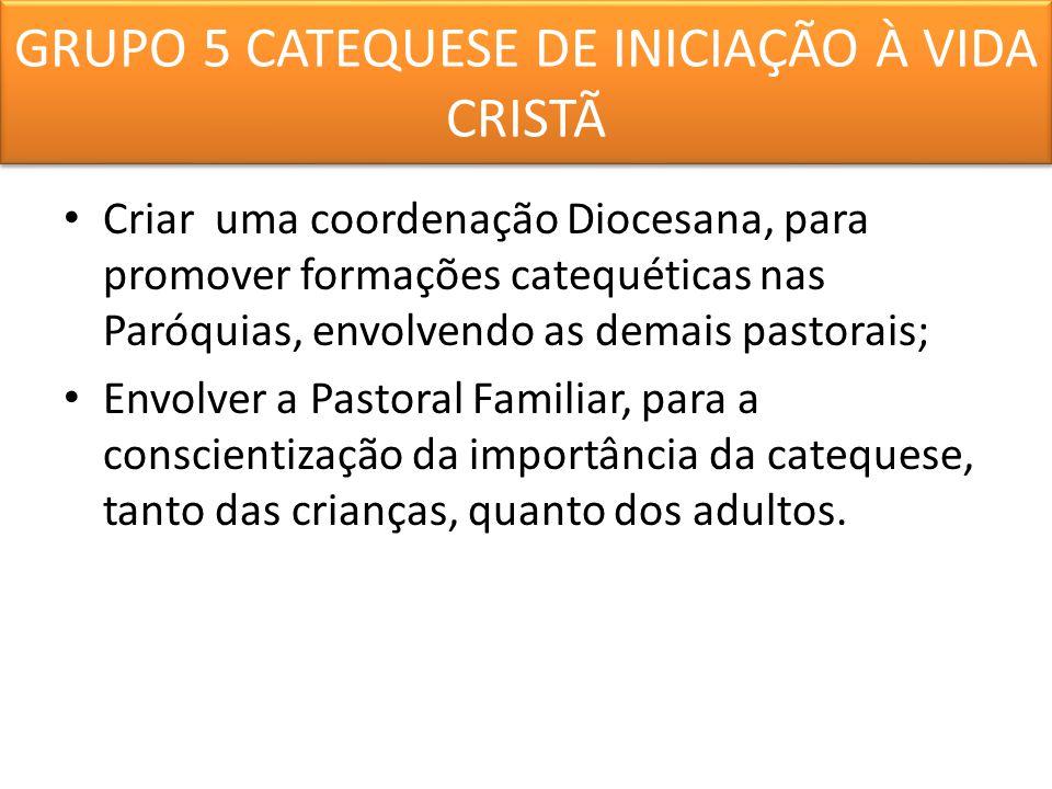 GRUPO 5 CATEQUESE DE INICIAÇÃO À VIDA CRISTÃ