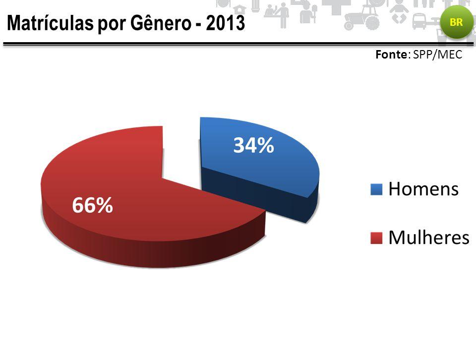 Matrículas por Gênero - 2013