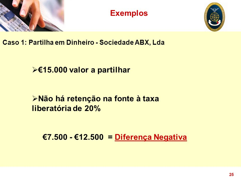 €7.500 - €12.500 = Diferença Negativa