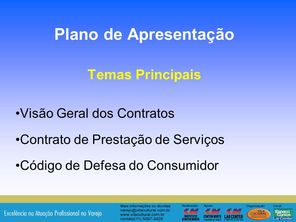 Plano de Apresentação Temas Principais