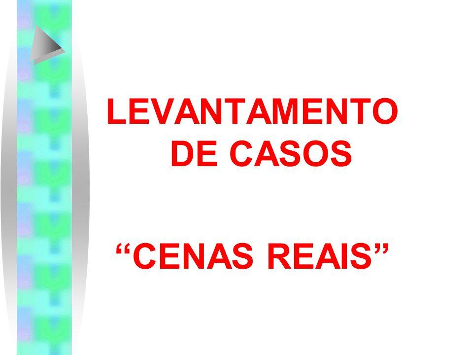 LEVANTAMENTO DE CASOS CENAS REAIS