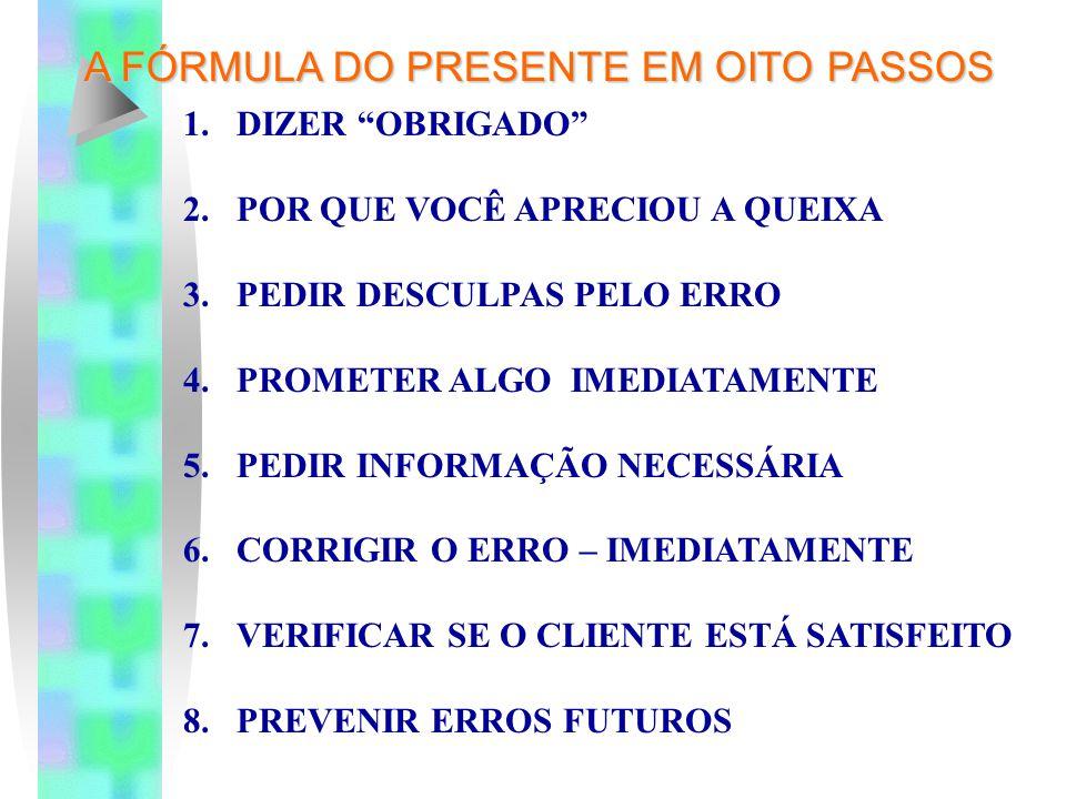 A FÓRMULA DO PRESENTE EM OITO PASSOS