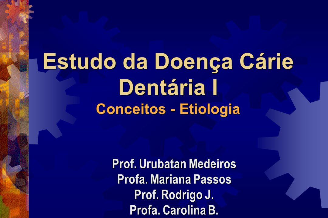 Estudo da Doença Cárie Dentária I Conceitos - Etiologia