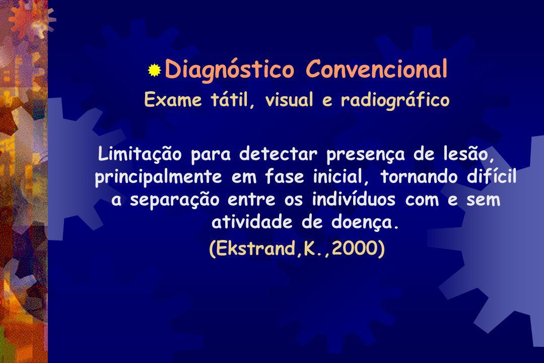 Diagnóstico Convencional Exame tátil, visual e radiográfico