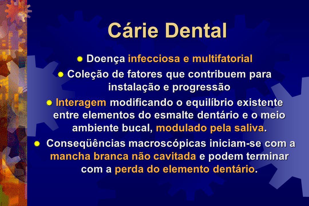 Cárie Dental Doença infecciosa e multifatorial
