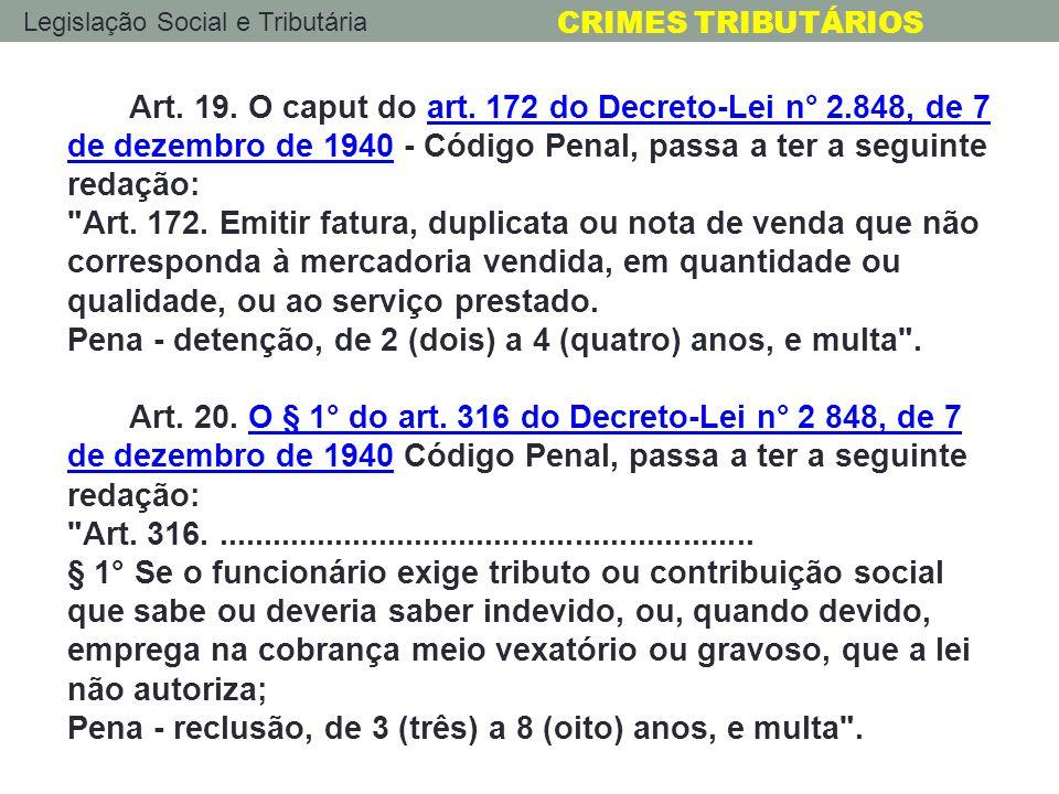Art. 19. O caput do art. 172 do Decreto-Lei n° 2