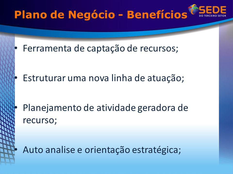 Plano de Negócio - Benefícios