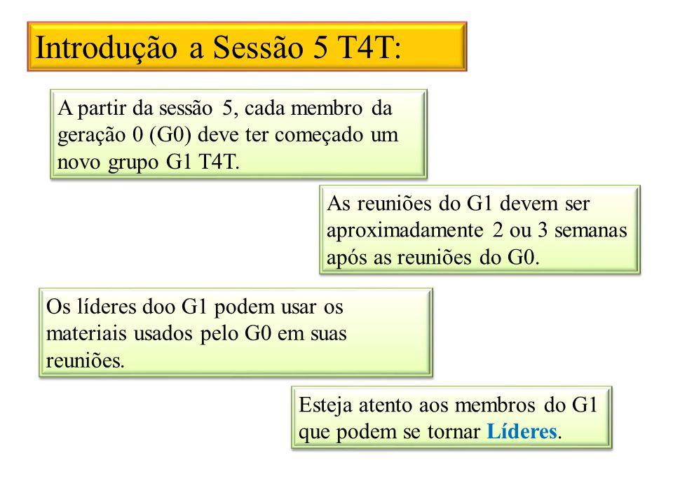 Introdução a Sessão 5 T4T: