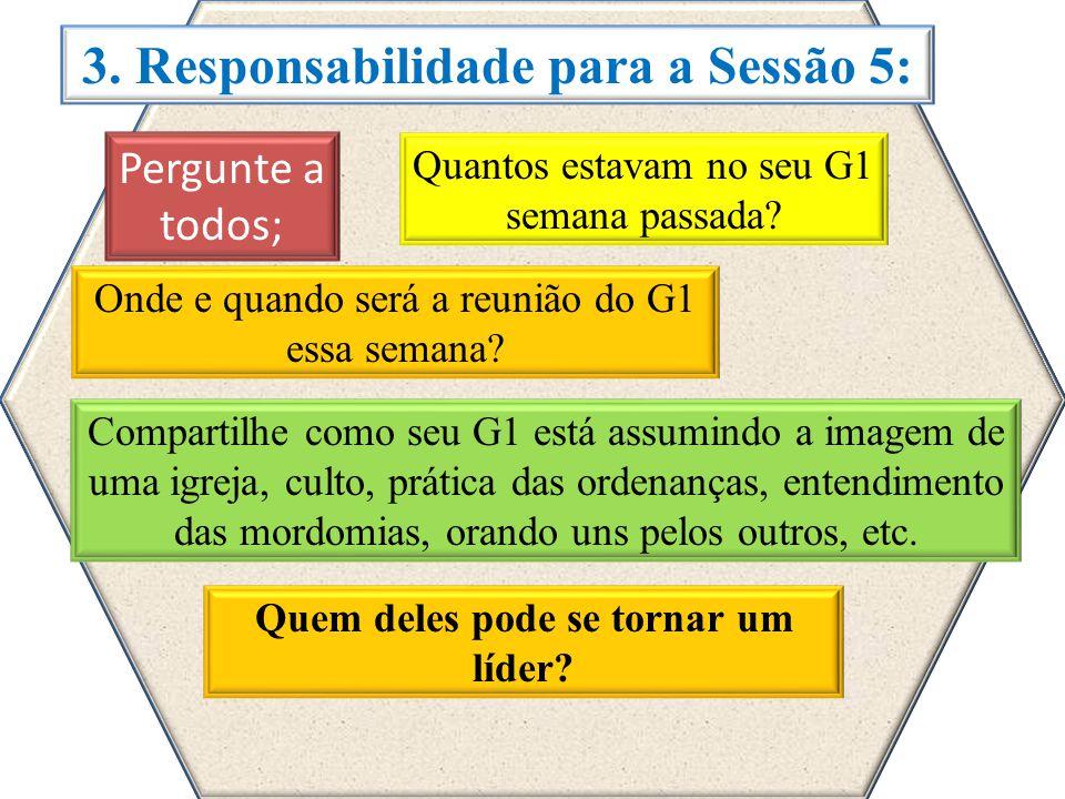 3. Responsabilidade para a Sessão 5: