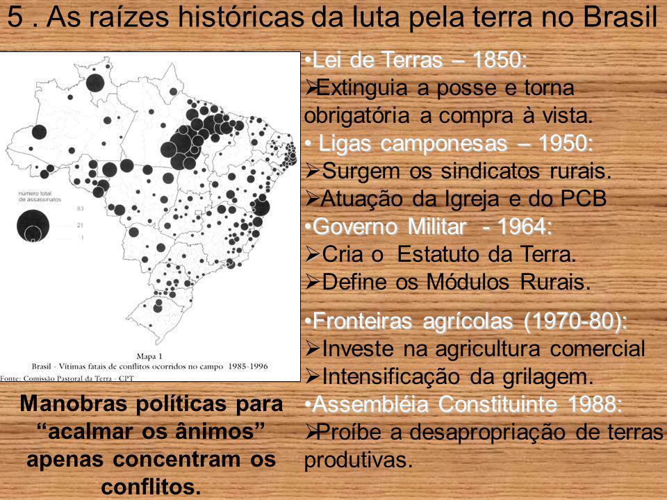 5 . As raízes históricas da luta pela terra no Brasil