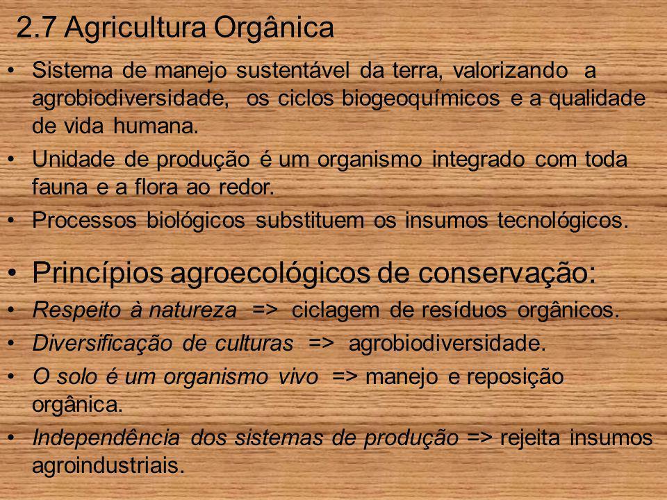 Princípios agroecológicos de conservação: