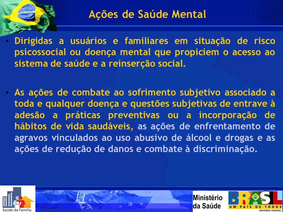 Ações de Saúde Mental