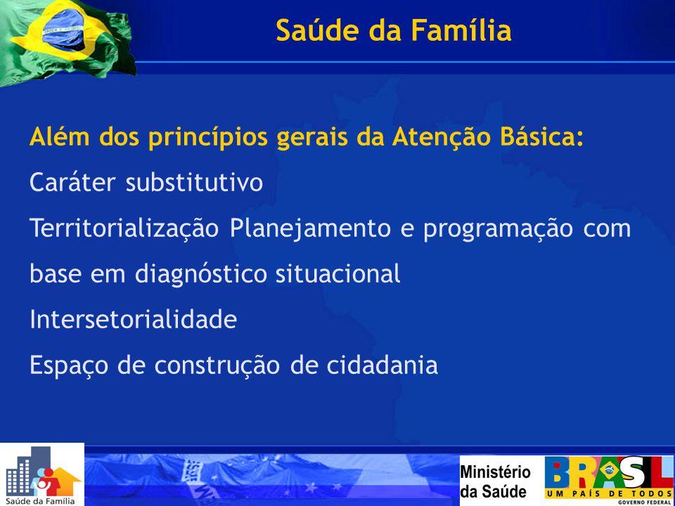 Saúde da Família Além dos princípios gerais da Atenção Básica: