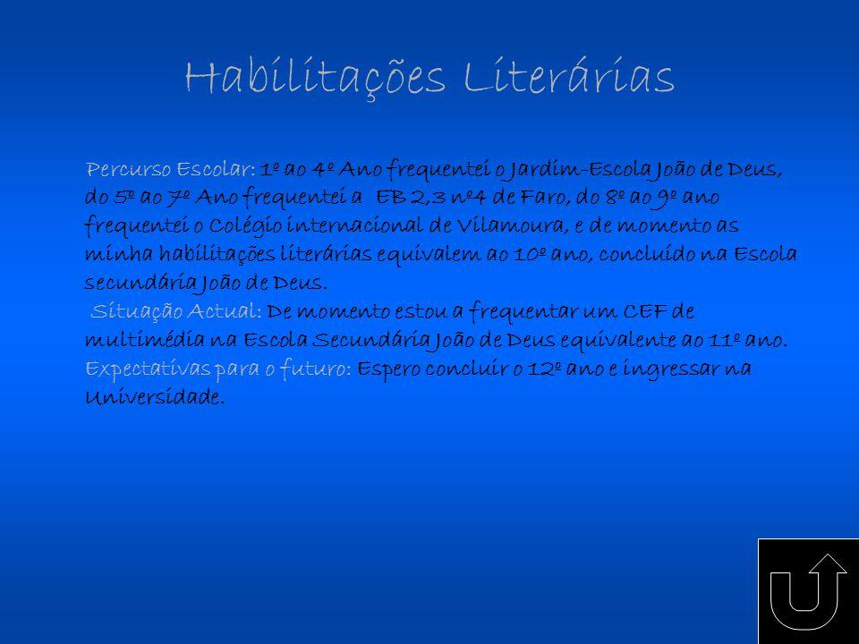 Habilitações Literárias