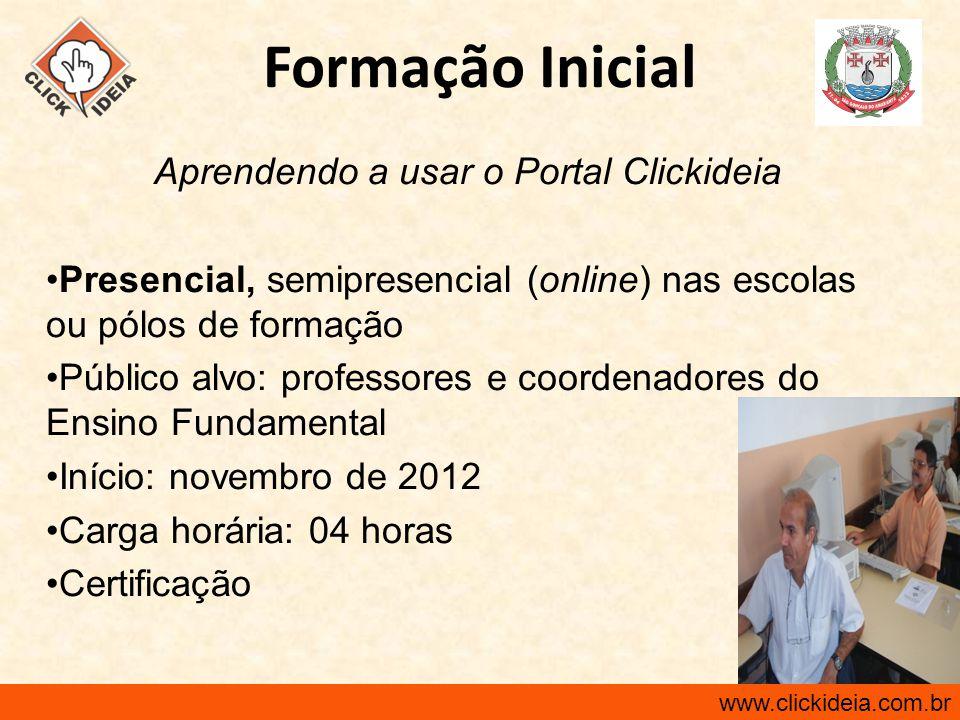 Aprendendo a usar o Portal Clickideia