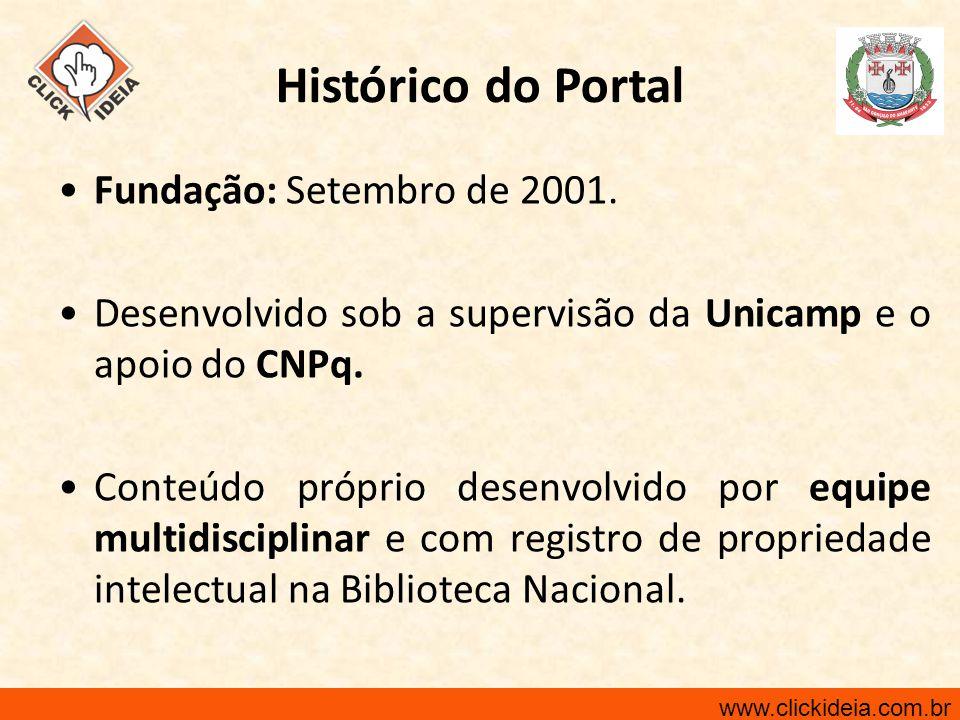 Histórico do Portal Fundação: Setembro de 2001.