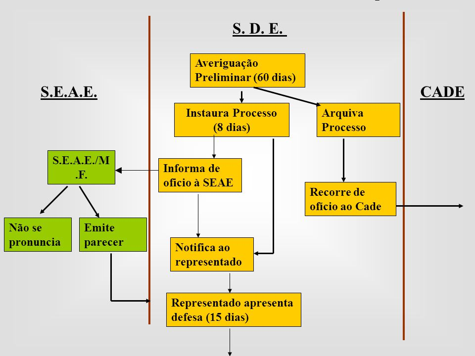 S. D. E. S.E.A.E. CADE Averiguação Preliminar (60 dias)