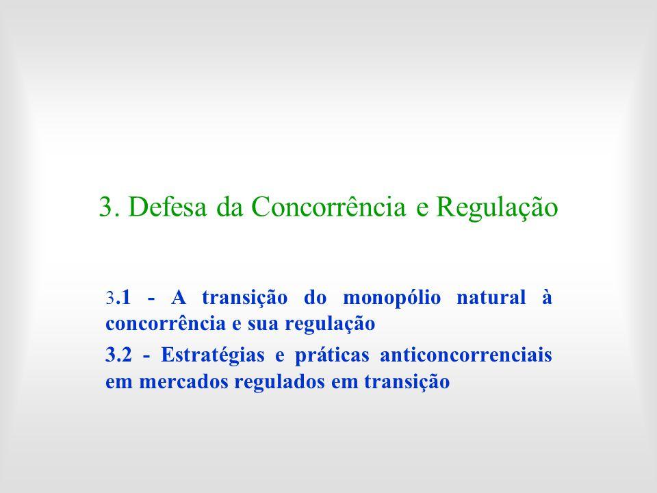 3. Defesa da Concorrência e Regulação