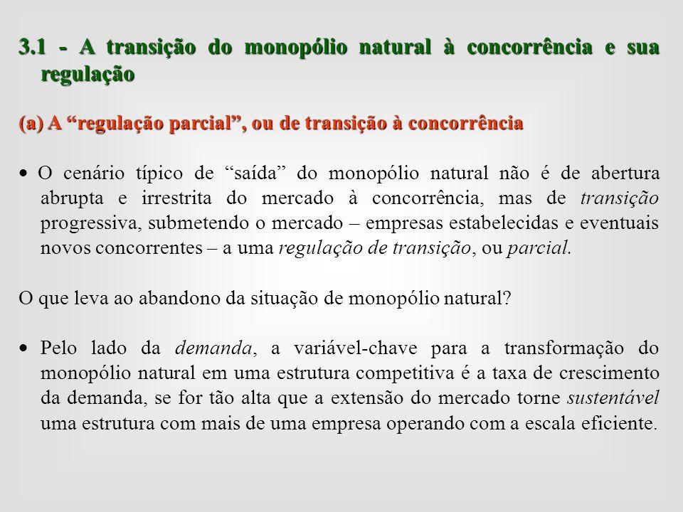 3.1 - A transição do monopólio natural à concorrência e sua regulação