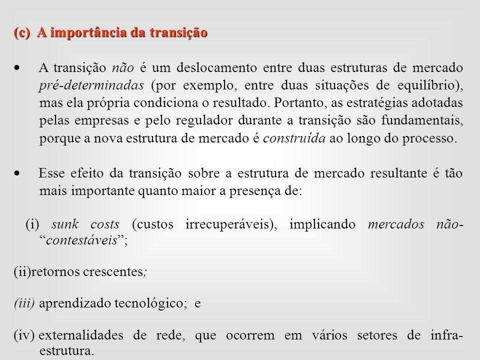 (c) A importância da transição