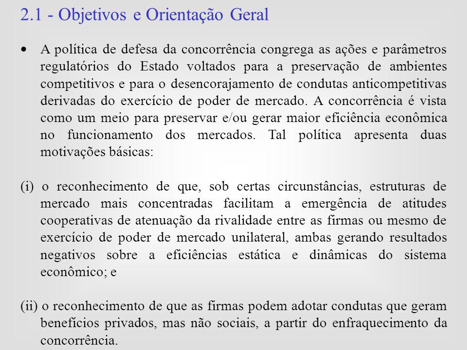 2.1 - Objetivos e Orientação Geral