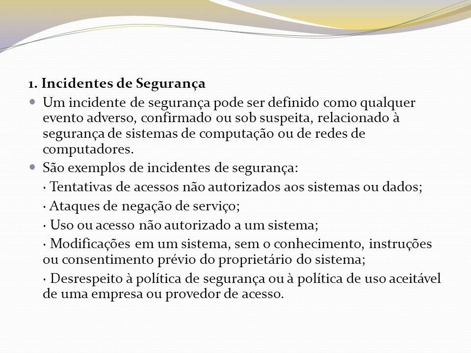 1. Incidentes de Segurança