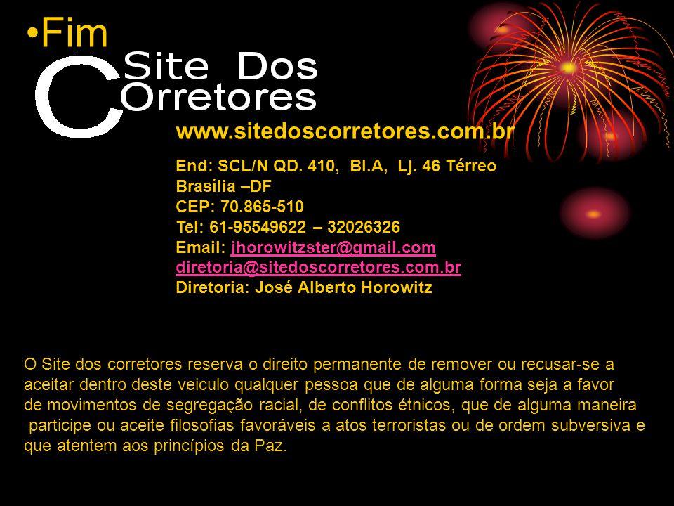Fim www.sitedoscorretores.com.br