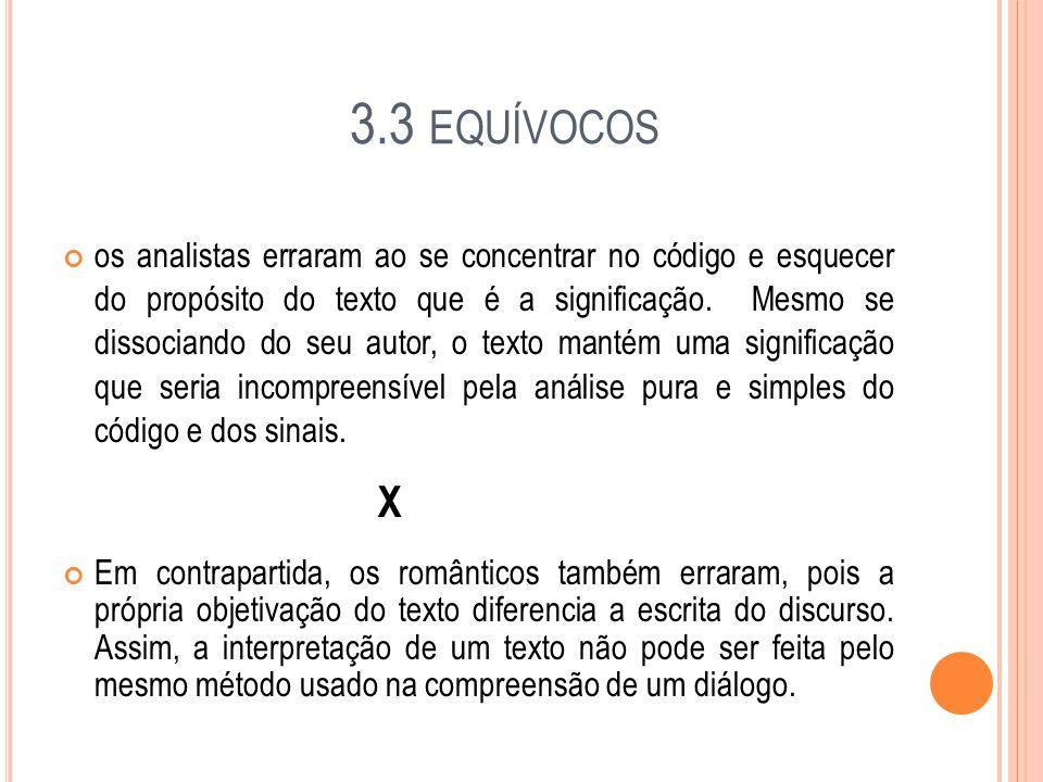 3.3 equívocos