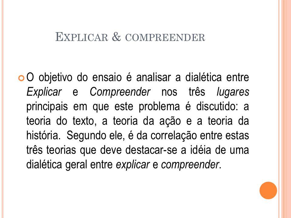 Explicar & compreender