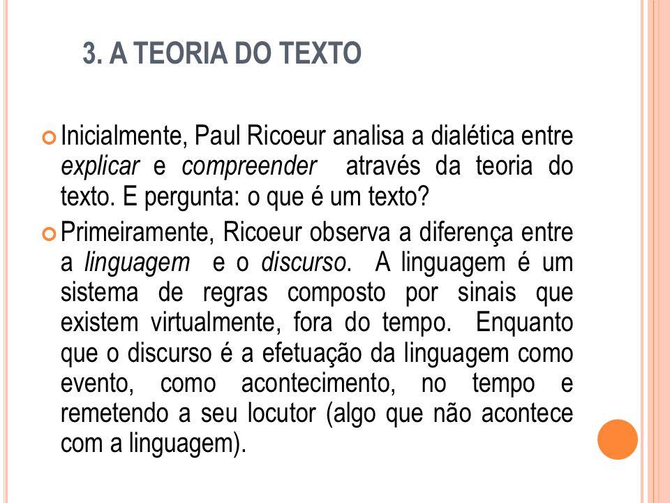 3. A TEORIA DO TEXTO