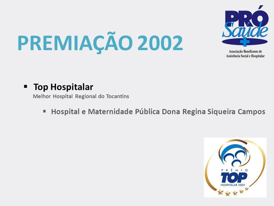 PREMIAÇÃO 2002 Top Hospitalar