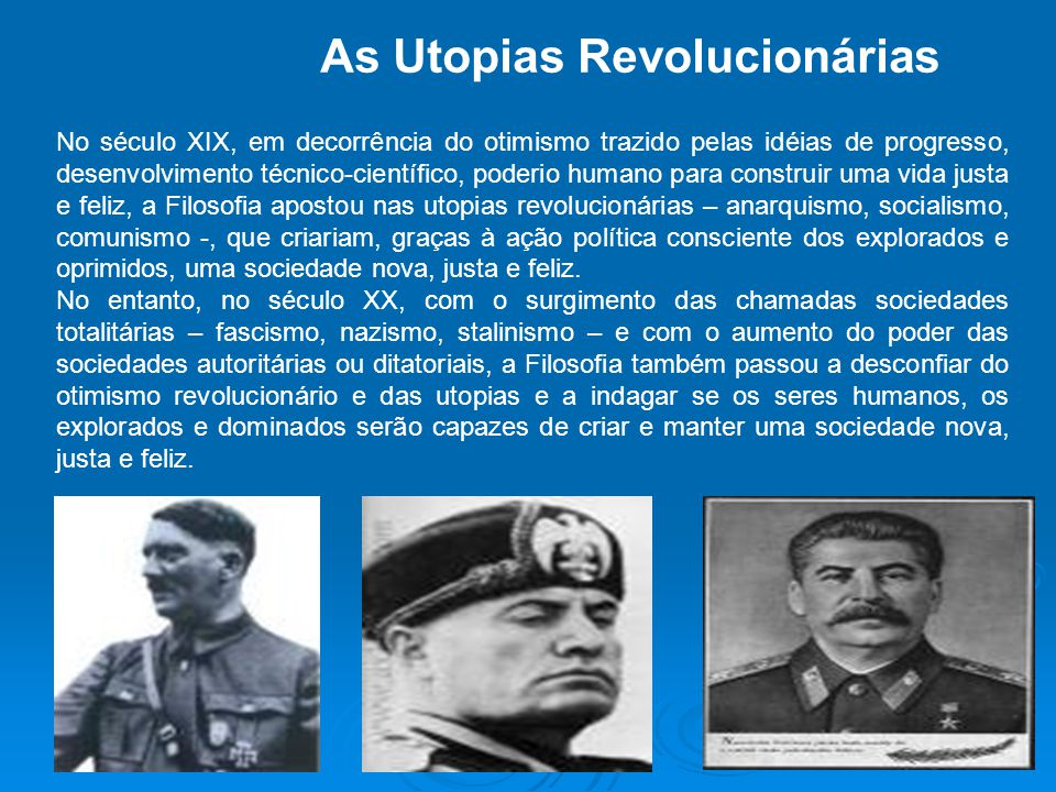 As Utopias Revolucionárias