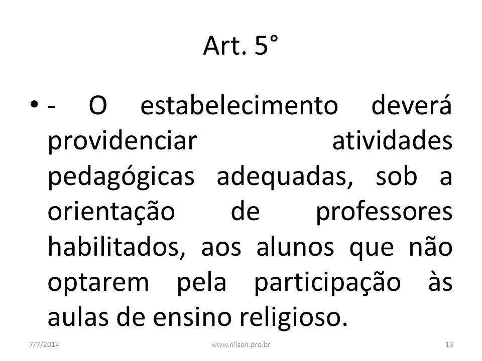 Art. 5°