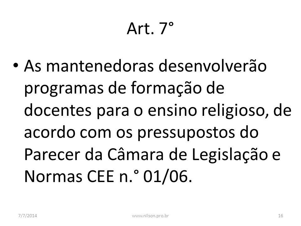 Art. 7°