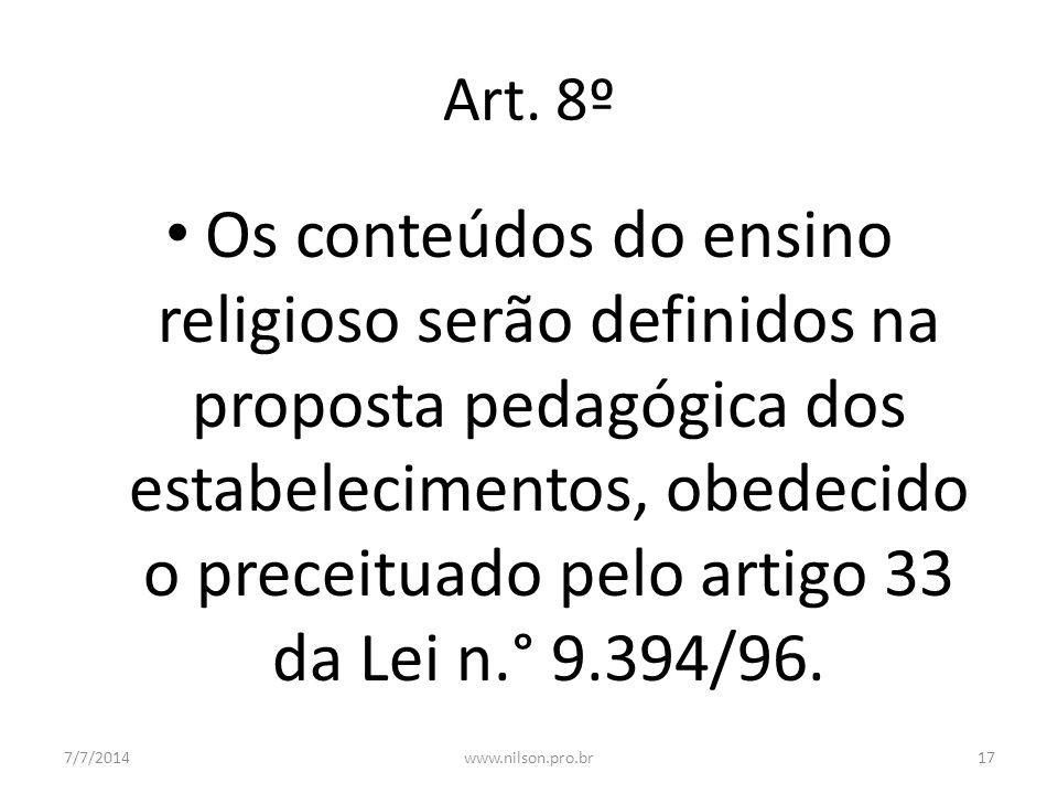 Art. 8º