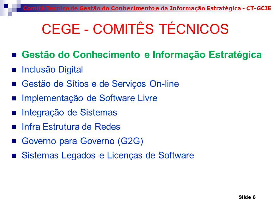 CEGE - COMITÊS TÉCNICOS