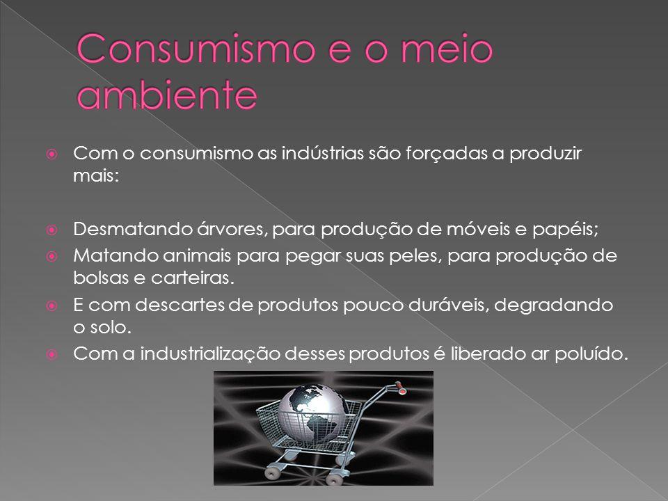 Consumismo e o meio ambiente