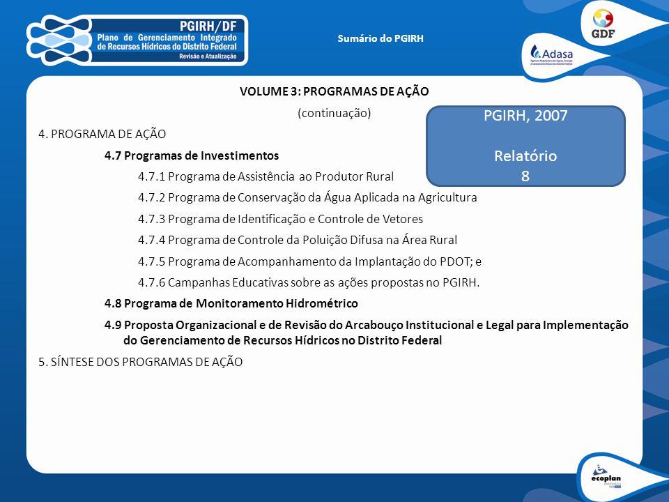VOLUME 3: PROGRAMAS DE AÇÃO