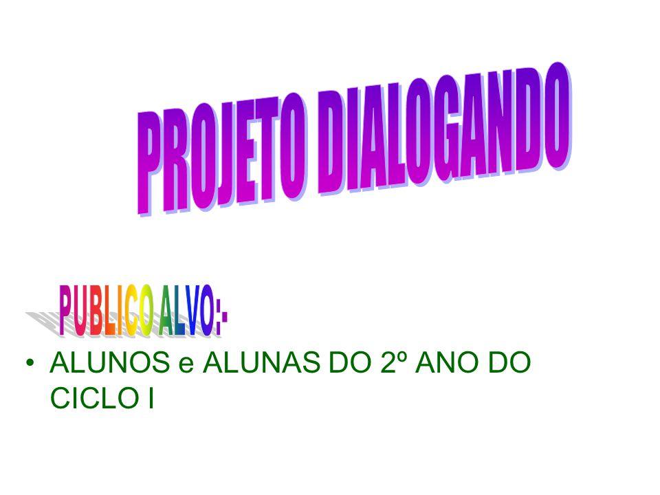 PROJETO DIALOGANDO PUBLICO ALVO:- ALUNOS e ALUNAS DO 2º ANO DO CICLO I