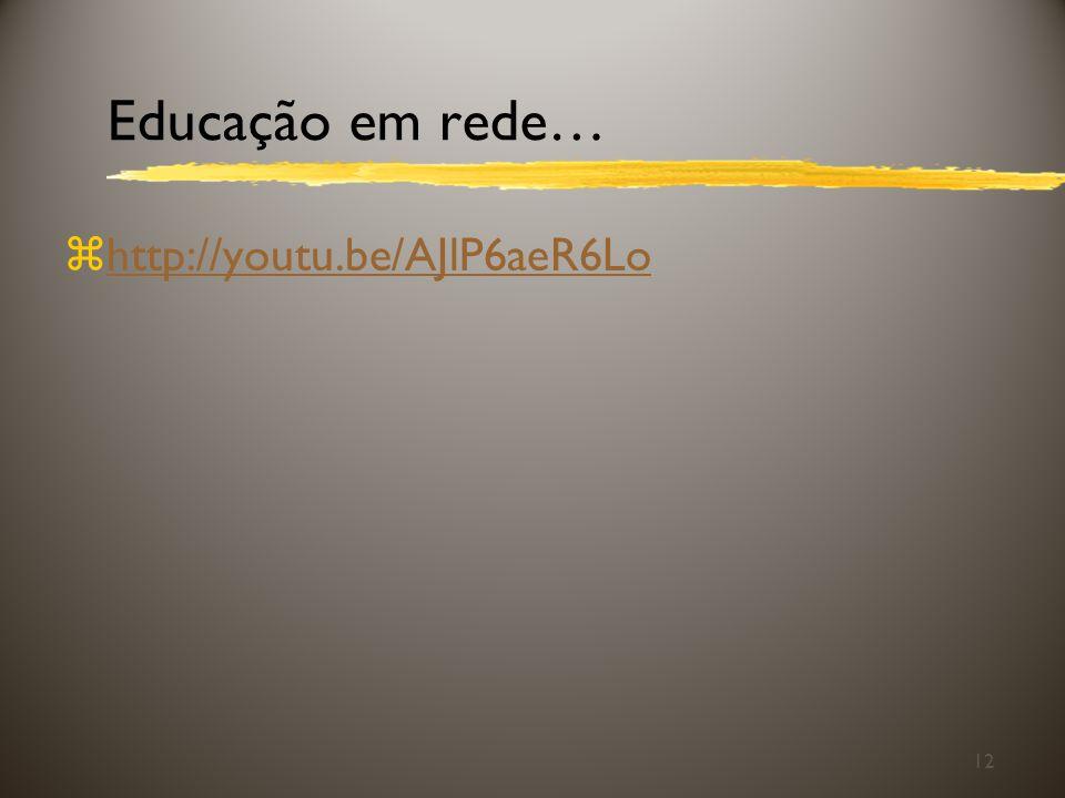 Educação em rede… http://youtu.be/AJlP6aeR6Lo